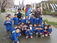 ぺがさす(4歳児)22名が、お花見ドライブ